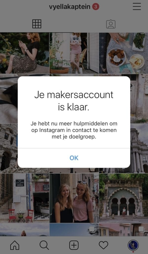 Instagram bedrijfsprofiel aanmaken