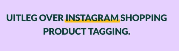 Instagram shopping / product tagging